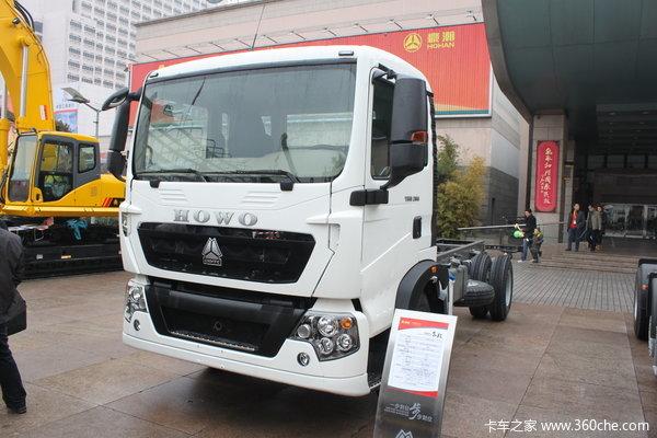 中国重汽 HOWO T5G重卡 210马力 4X2 载货车(底盘)(ZZ1167H451GD2/H6B7M)外观图