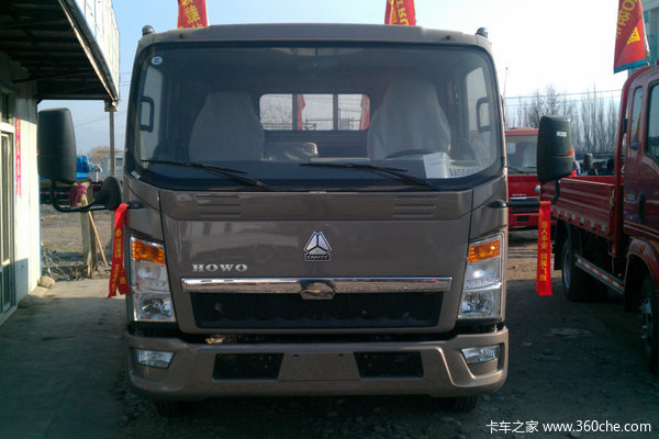 中国重汽 HOWO 悍将 115马力 4.85米排半栏板载货车外观图