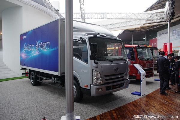 一汽通用 F330速豹 150马力 4X2 4.822米排半厢式载货车(CA5053XXYPK45L3R5E1)