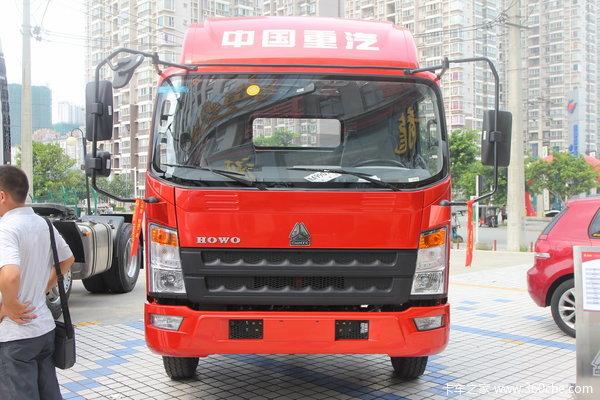 中国重汽 HOWO 140马力 4X2 6.25米排半栏板式载货车(ZZ1127G4715D)