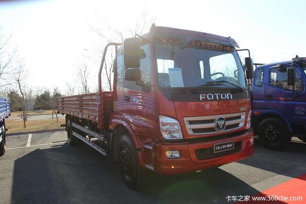 福田 奥铃TX中卡 160马力 4X2 排半载货车(BJ1169VKPEK-FA)