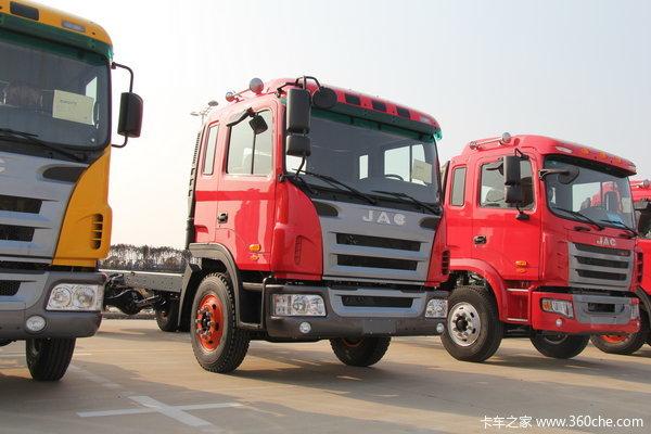 江淮 格尔发K3系列中卡 160马力 4X2 排半载货车(底盘)(HFC1161PZ5K1E1AF)
