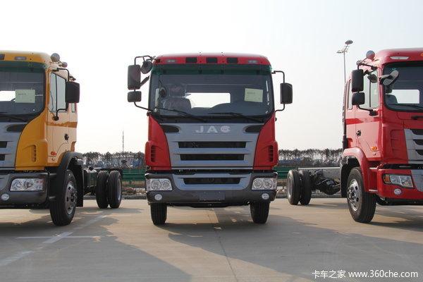 江淮 格尔发K3系列中卡 160马力 4X2 排半载货车(底盘)(HFC1161PZ5K1E1AF)外观图