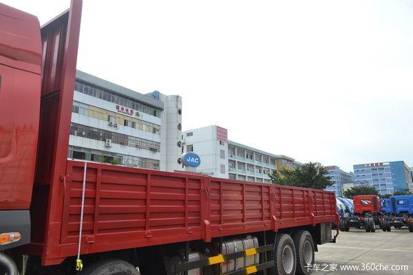 东风柳汽 霸龙重卡 280马力 8X4 排半载货车(LZ1311QELA)上装图