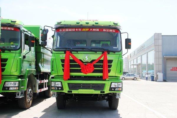 陕汽 德龙F3000重卡 336马力 6X4 自卸车(U型斗新型渣土车)(SX3256DR3841)外观图