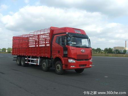 解放 J6P重卡 280马力 8X4 仓栅载货车(轻量化)(CA5310CLXYP66K2L7T4A2E1)外观图