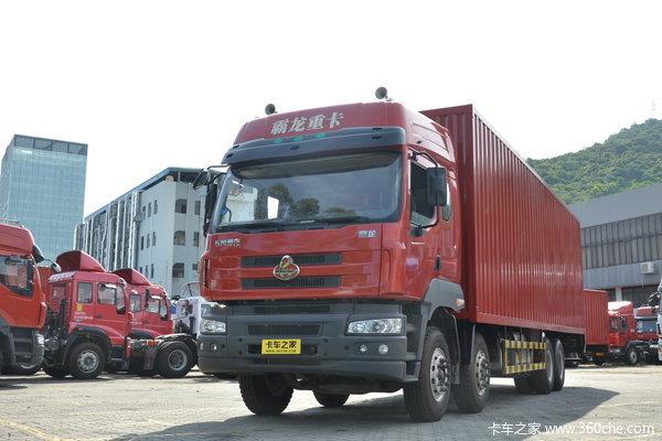 东风柳汽 霸龙重卡 280马力 8X4 厢式载货车(LZ5311JSQQELA)