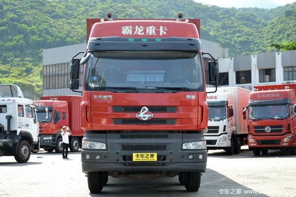 东风柳汽 霸龙重卡 280马力 8X4 厢式载货车(LZ5311JSQQELA)外观图