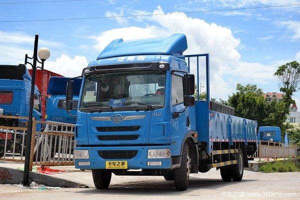 青岛解放 龙V中卡 170马力 4X2 6.75米栏板式式载货车(CA1169PK2L2E4A80)