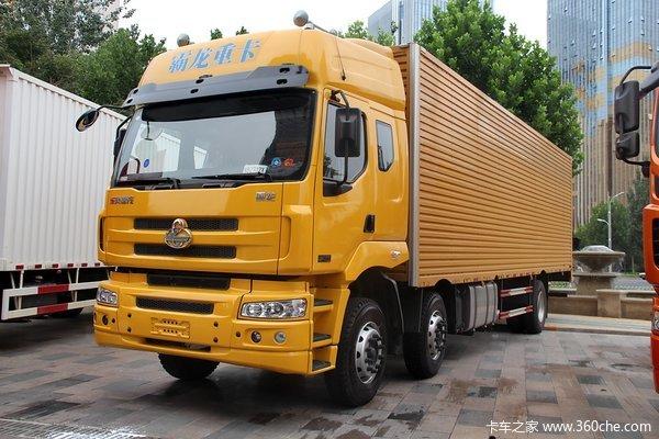 东风柳汽 霸龙重卡 245马力 6X2 排半厢式载货车(LZ1200M3CAT)