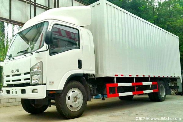 庆铃 700P系列中卡 189马力 4X2 厢式载货车(QL5101XXY9PARJ)(气刹)外观图