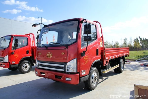 青岛解放 虎VH 120马力 4X2 5.17米单排栏板载货车(CA1081P40K2L2BE4A84)