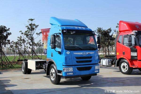 青岛解放 龙V中卡 220马力 4X2 CNG载货车(底盘)(CA5167CCYPK2L2NE5A80-1)