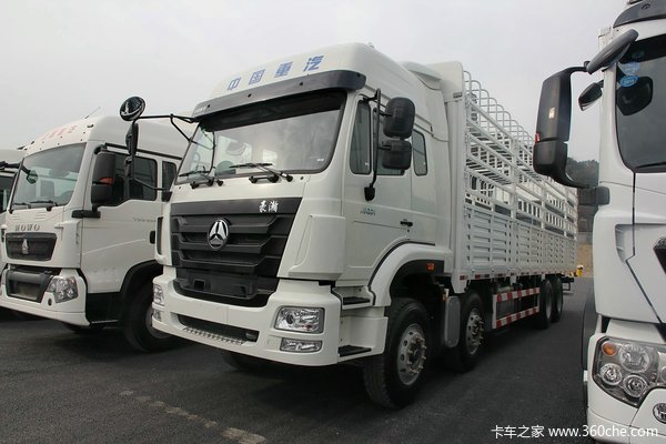 中国重汽 豪瀚-J5G重卡 310马力 8X4 仓栅式载货车(ZZ5325CCYN4663D1)
