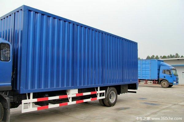 江淮 帅铃威司达W570 160马力 4X2 7.6米排半厢式载货车(核载版)上装图