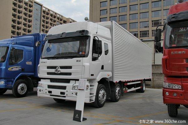 东风柳汽 霸龙重卡 270马力 6X2 排半厢式载货车(LZ5200XXYM5CA)