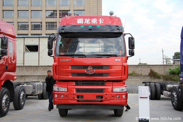 东风柳汽 霸龙重卡 315马力 8X4 排半厢式载货车底盘(LZ5311XXYQELA)外观图