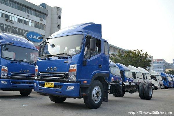 江淮 帅铃威司达W570 165马力 4X2 7.66米厢式载货车底盘(HFC5141XXYP70K1E2)