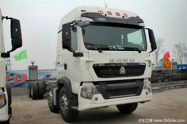 中国重汽 HOWO T5G重卡 340马力 8X4 载货车底盘(ZZ1317N466GD1)外观图