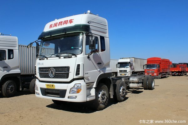 东风 天龙重卡 245马力 6X2 厢式载货车底盘(DFL5253XXYAX1B)