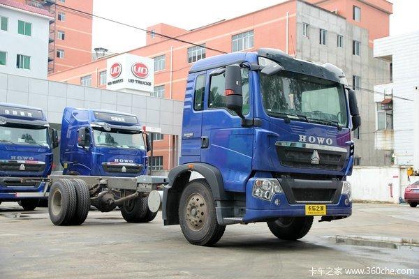 中国重汽 HOWO T5G重卡 180马力 4X2 排半厢式载货车底盘(ZZ1167H501GD1)