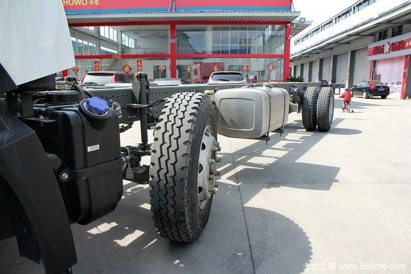 中国重汽 HOWO T5G重卡 240马力 6X2 厢式载货车底盘(ZZ1257K56CGD1)底盘图