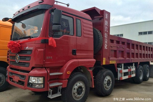 陕汽 德龙新M3000 336马力 8X4 自卸车(SX3316HR366)外观图
