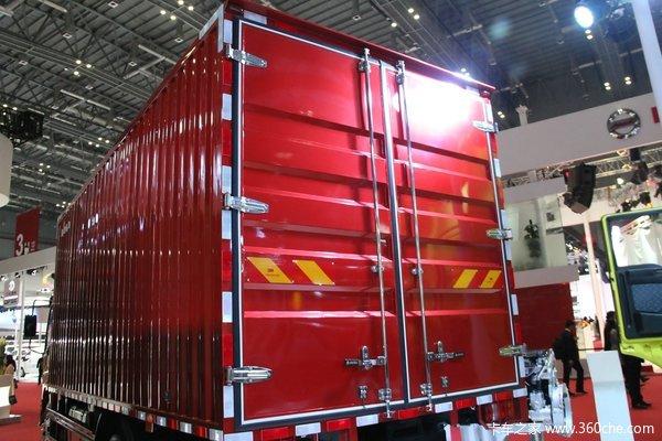 中国重汽HOWO轻卡 160马力 4X2 5.75米排半厢式(ZZ5127XXYG451CD1)上装图