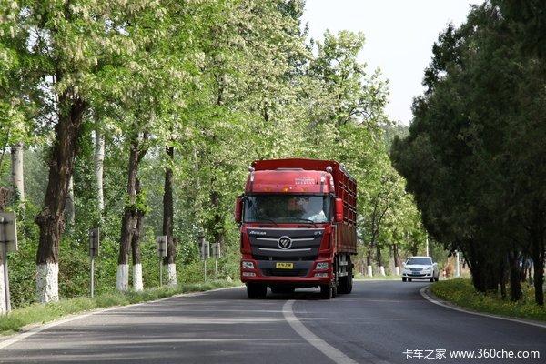 福田 欧曼GTL超能版 山区型 350马力 8X4 仓栅式载货车(BJ1319VPPKJ-XC)外观图