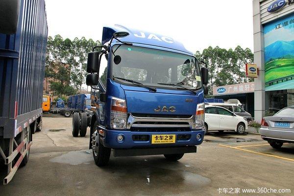 江淮 帅铃中卡 141马力 4X2 6.2米厢式载货车底盘