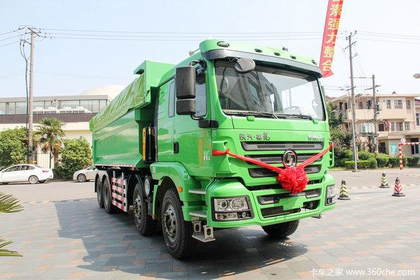 陕汽 德龙新M3000 336马力 8x4 新型环保渣土车(SX3316HR326)外观图