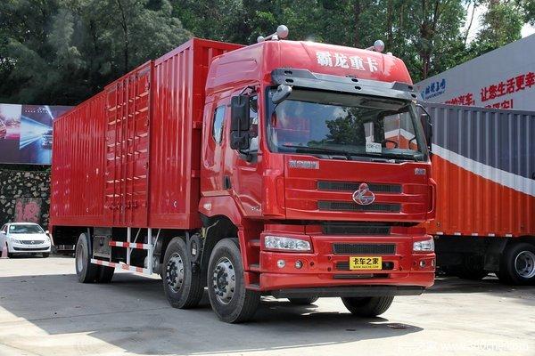 东风柳汽 霸龙 240马力 6X2 9.6米厢式载货车(LZ1250M5CAT)外观图