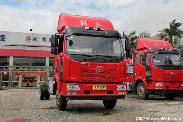 解放 J6L中卡 160马力 4X2 载货车底盘(CA5160XXYP62K1L5A1E4)外观图