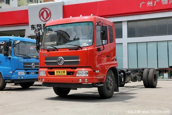 东风 天锦中卡 160马力 4X2 7.7米排半厢式载货车底盘(DFL5160XXYBX2A1)
