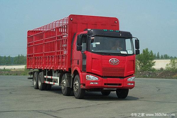 解放 J6M重卡 260马力 8X4 仓栅载货车(CA5240CLXYP63K1L6T4A2E)外观图