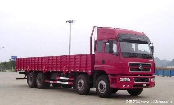 东风柳汽 霸龙重卡 240马力 8X4 栏板载货车(LZ1245PEL)外观图