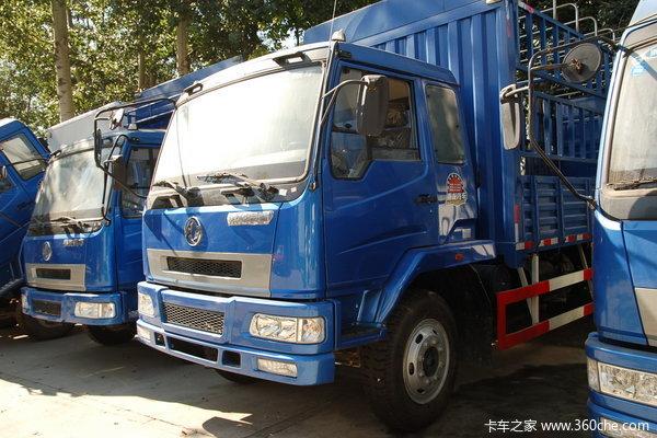 东风柳汽 乘龙中卡 140马力 4X2 仓栅载货车(带卧铺)(LZ5080CSLAL)外观图