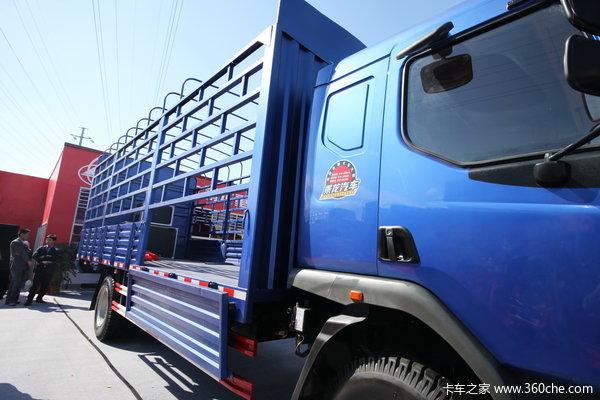 东风柳汽 乘龙609中卡 140马力 4X2 排半仓栅载货车(LZ5163CSRAP) 上装图