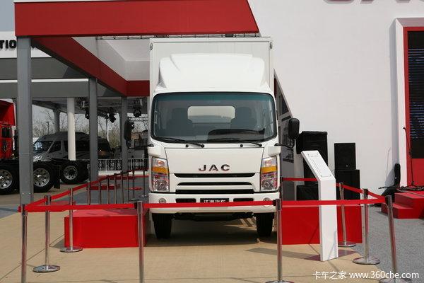 江淮帅铃III 156马力 4X2 6.2米排半厢式载货车(HFC1083)外观图