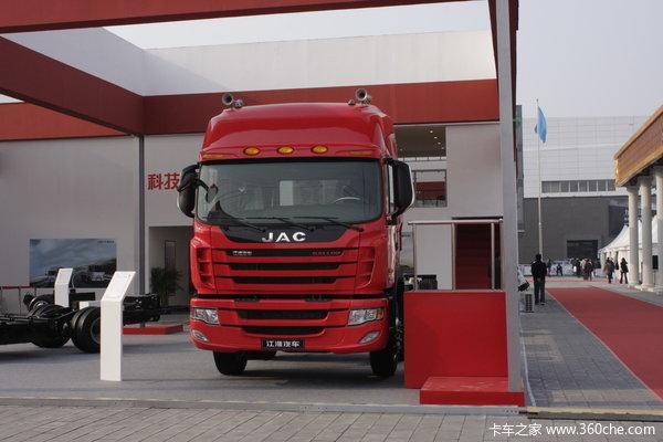 江淮 格尔发K系列重卡 310马力 8X4 载货车(底盘)(HFC1314K1R1LT)外观图