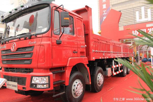 陕汽 德龙F3000重卡 290马力 8X4 栏板载货车(轻量化)(SX1315NR366)外观图