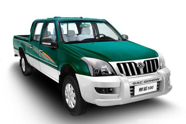 2012款广汽吉奥 财运100系列 标准型 2.2L汽油国四  双排皮卡