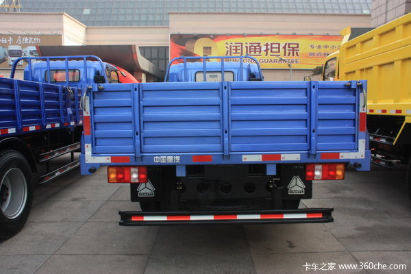 中国重汽 HOWO 悍将 102马力 4X2 4.85米排半栏板载货车(ZZ1077D3815B171)上装图
