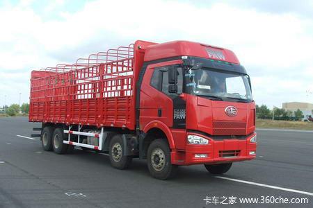 解放 J6P重卡 复合型 375马力 8X4 仓栅载货车(CA5310CLXYP66K24L7T4A1E)外观图