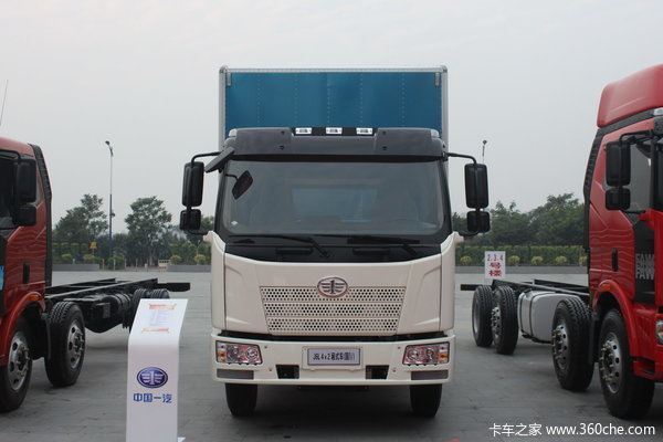 解放 J6L中卡 140马力 4X2 厢式载货车(CA5160XXYP62K1L3E4)外观图