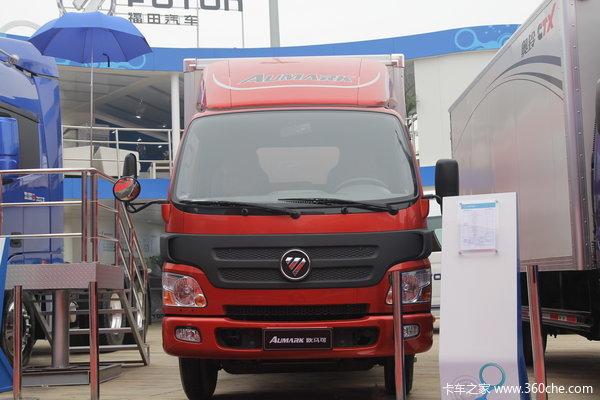 福田欧马可1系 130马力 4.165米单排厢式轻卡外观图