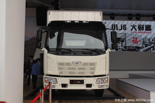 解放 J6L中卡 140马力 4X2 厢式载货车(新道依茨)(CA1160P62K1L4E4)外观图